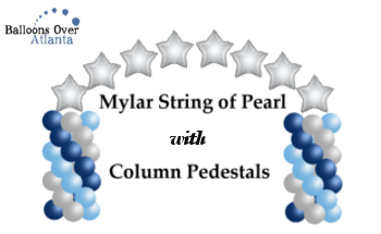 Mylar Column Balloon Arch